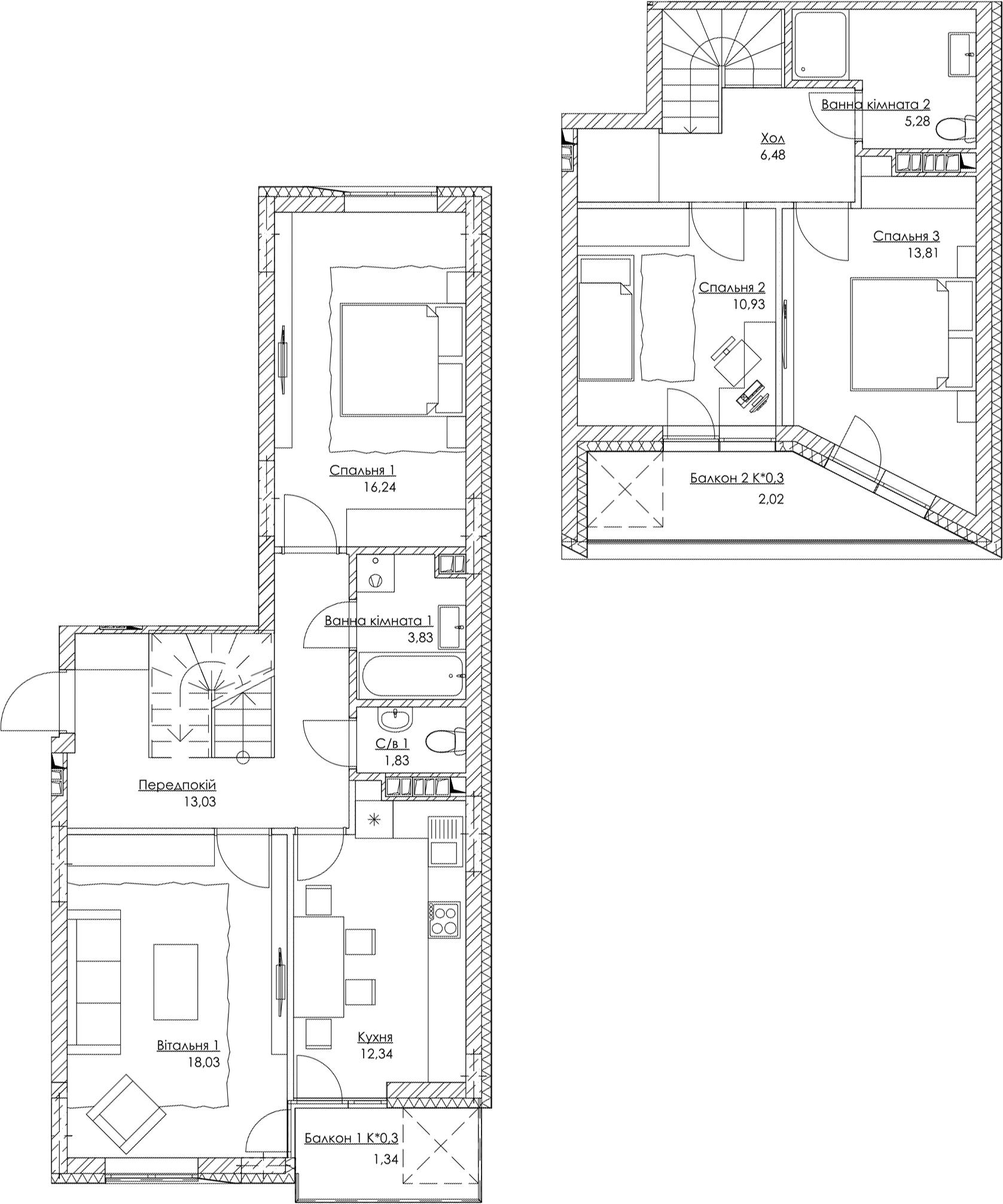 План квартири k4