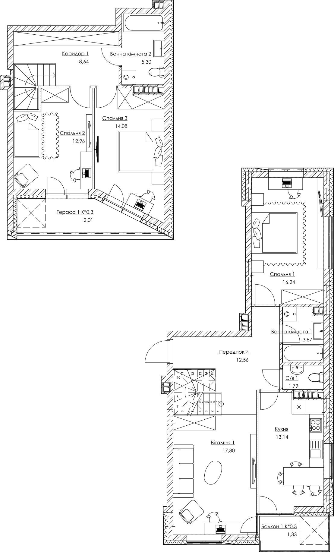 План квартиры KV_35_4K1_1_1_3