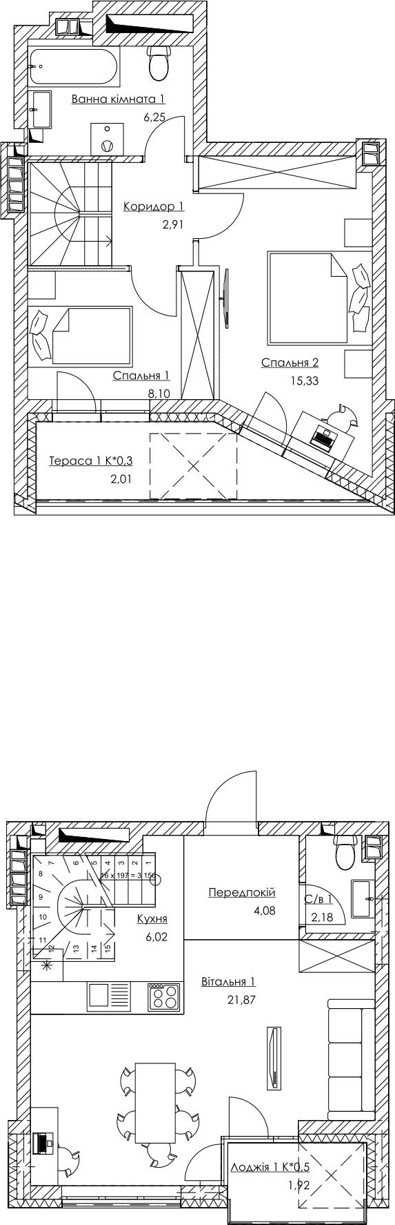 План квартири KV_36_2K3_1_1_4