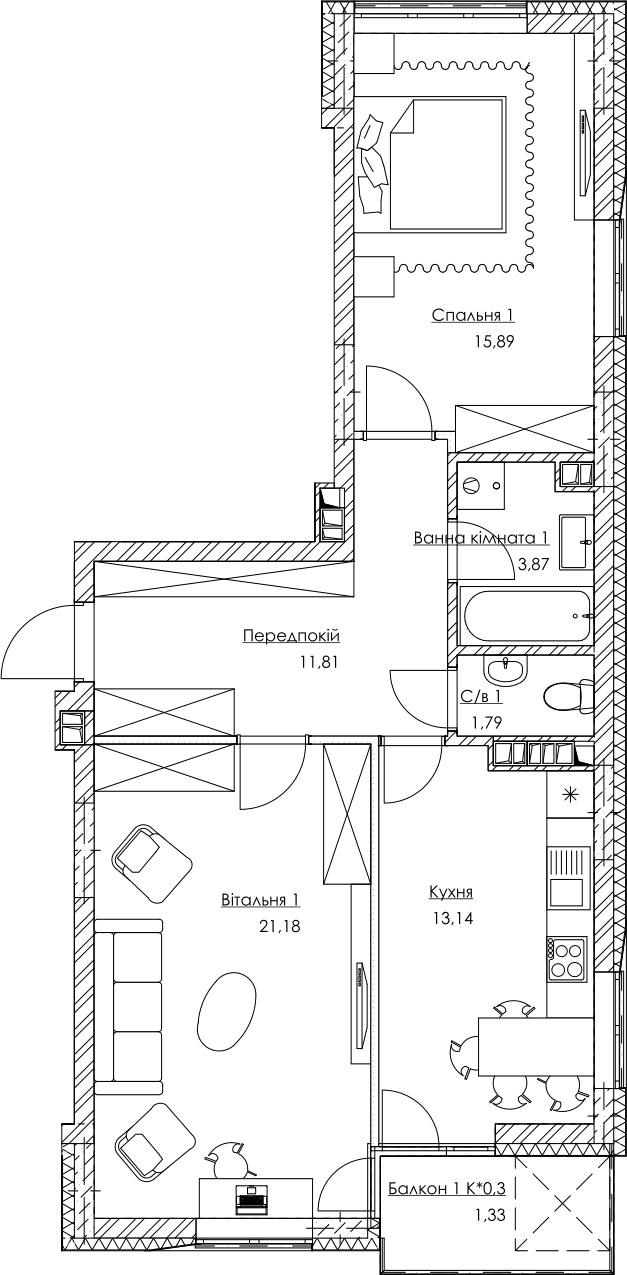 План квартири KV_3_2K1_1_1_3
