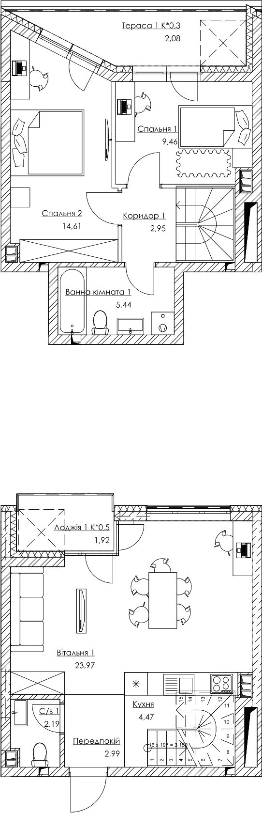План квартиры KV_40_2K5_1_1_8