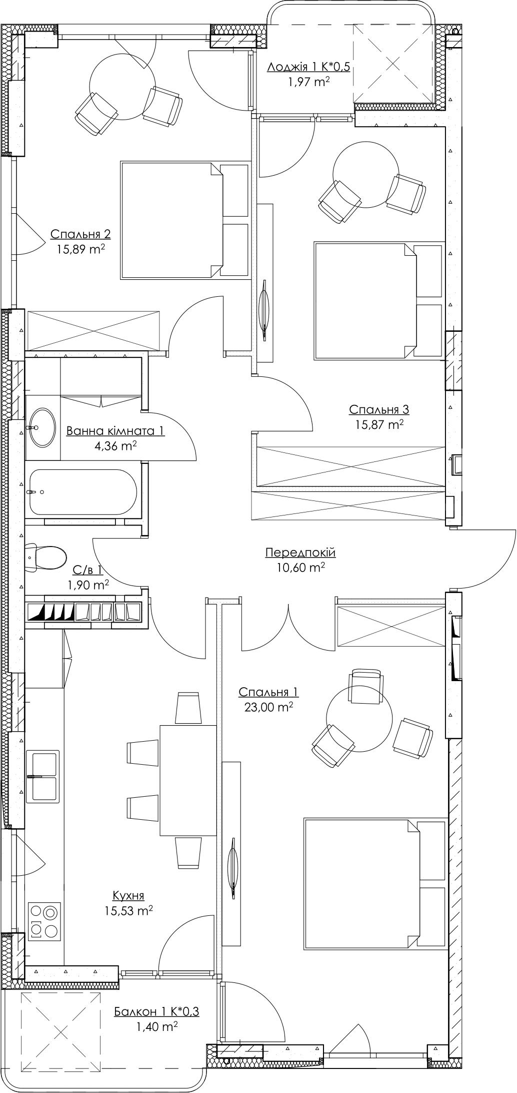 План квартири k1-2