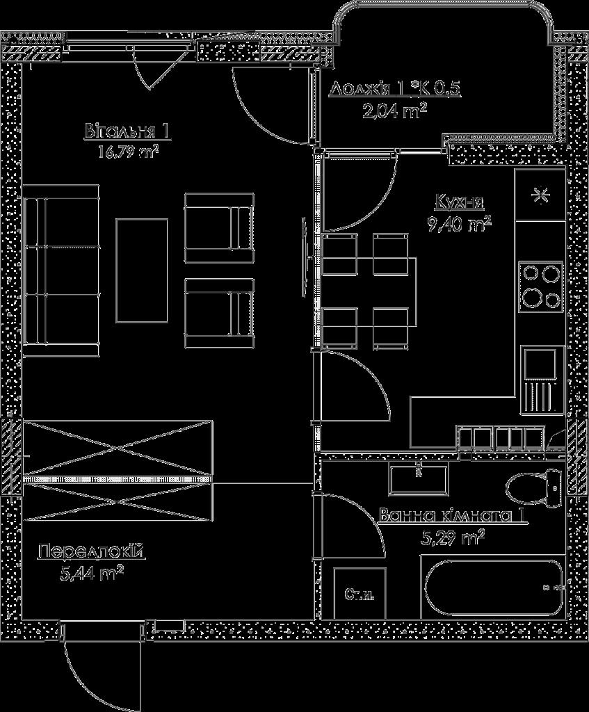 План квартиры KV_2_1K2_1_1_2