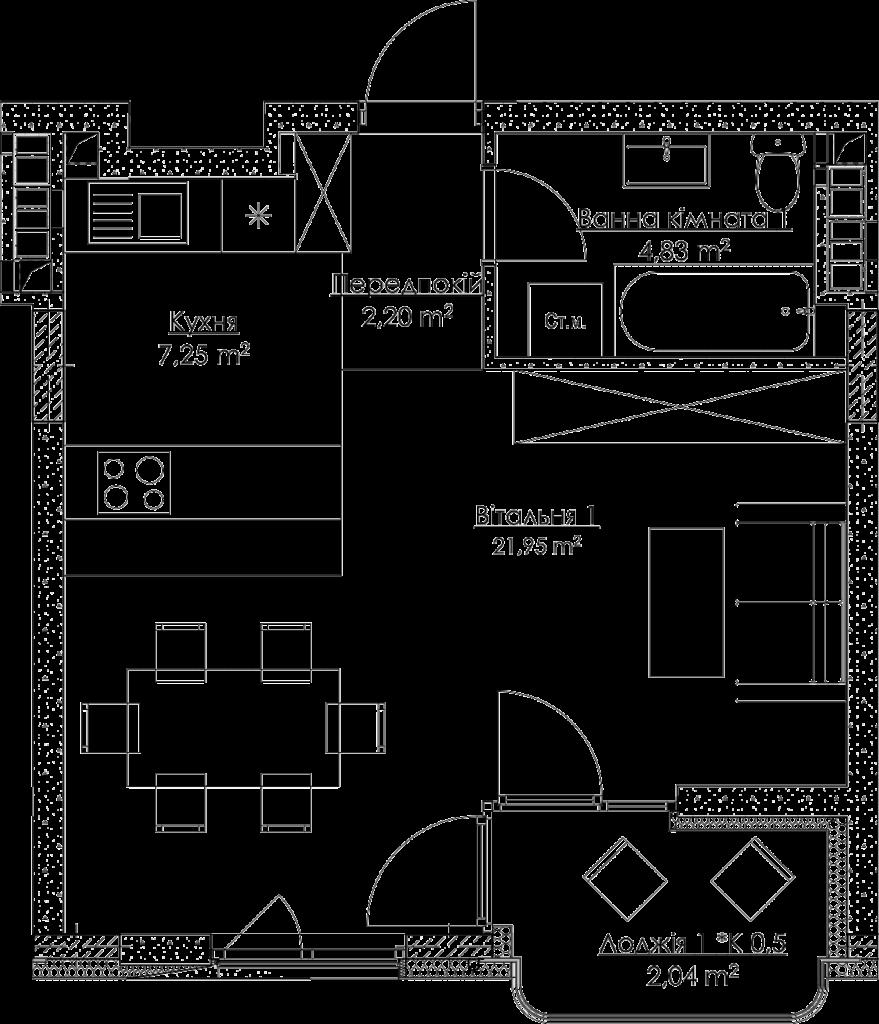 План квартири KV_5_1K4_1_1_5