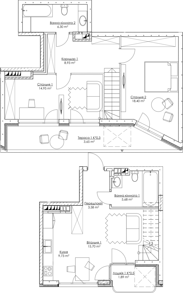 План квартиры 3Б