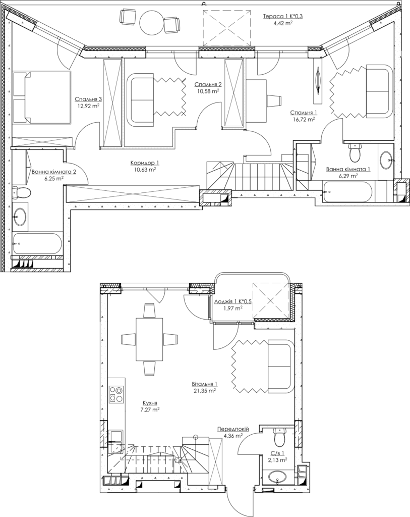 Plan of the apartment k4A