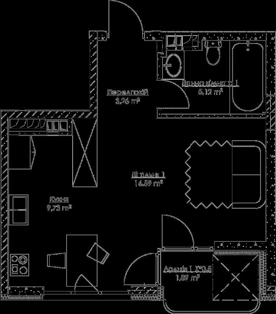 План квартири k3
