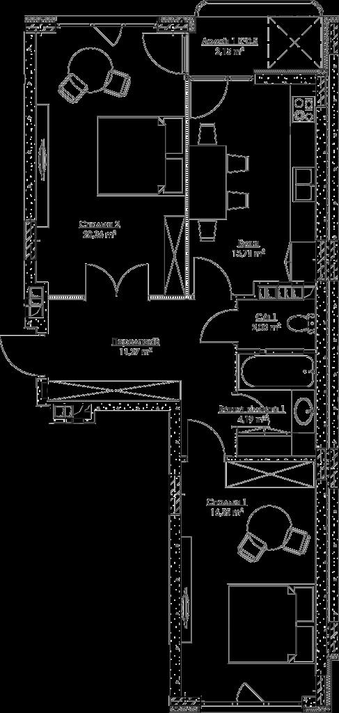 План квартиры k4