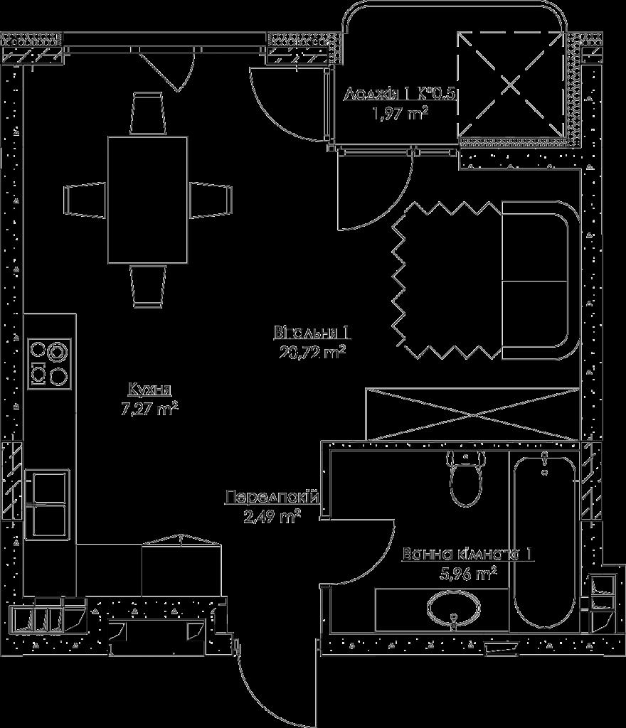 План квартири k2-2