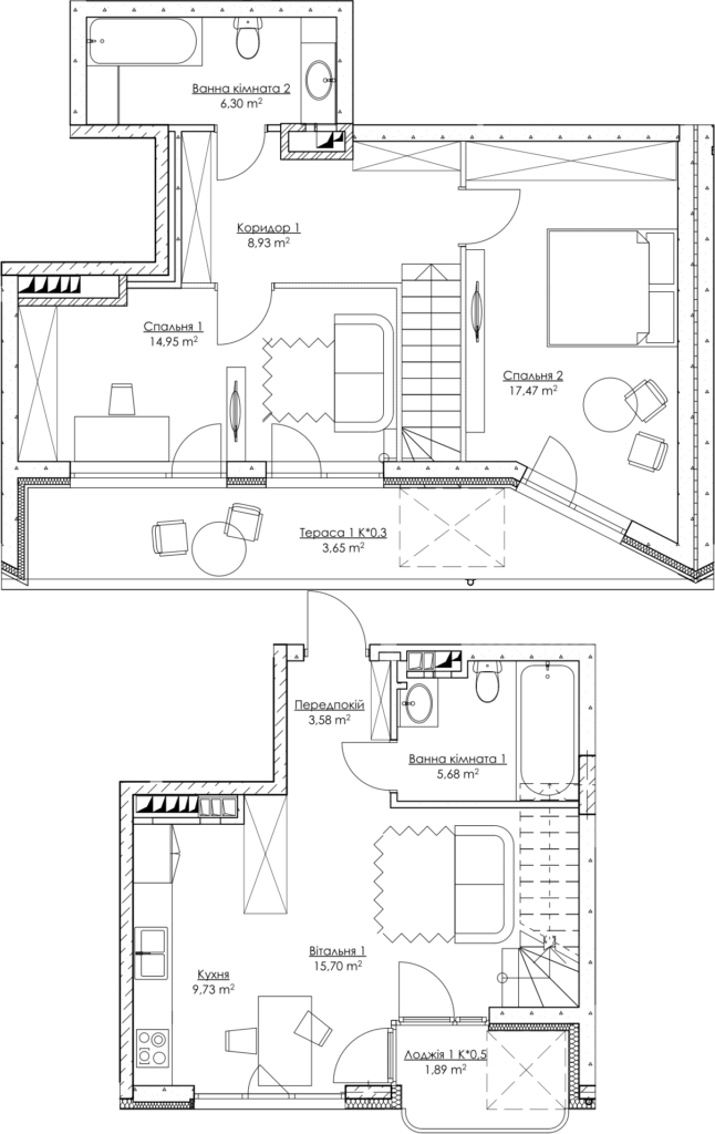 Plan of the apartment k3Г
