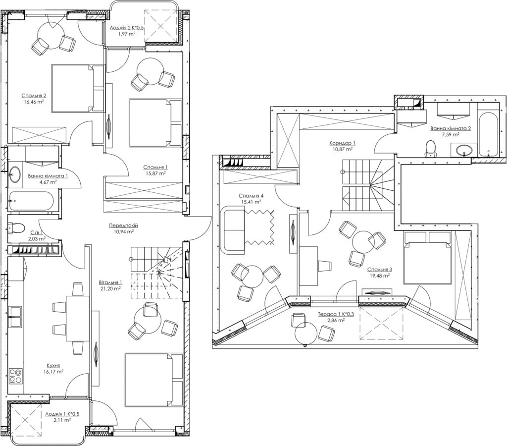 Plan of the apartment k6Б
