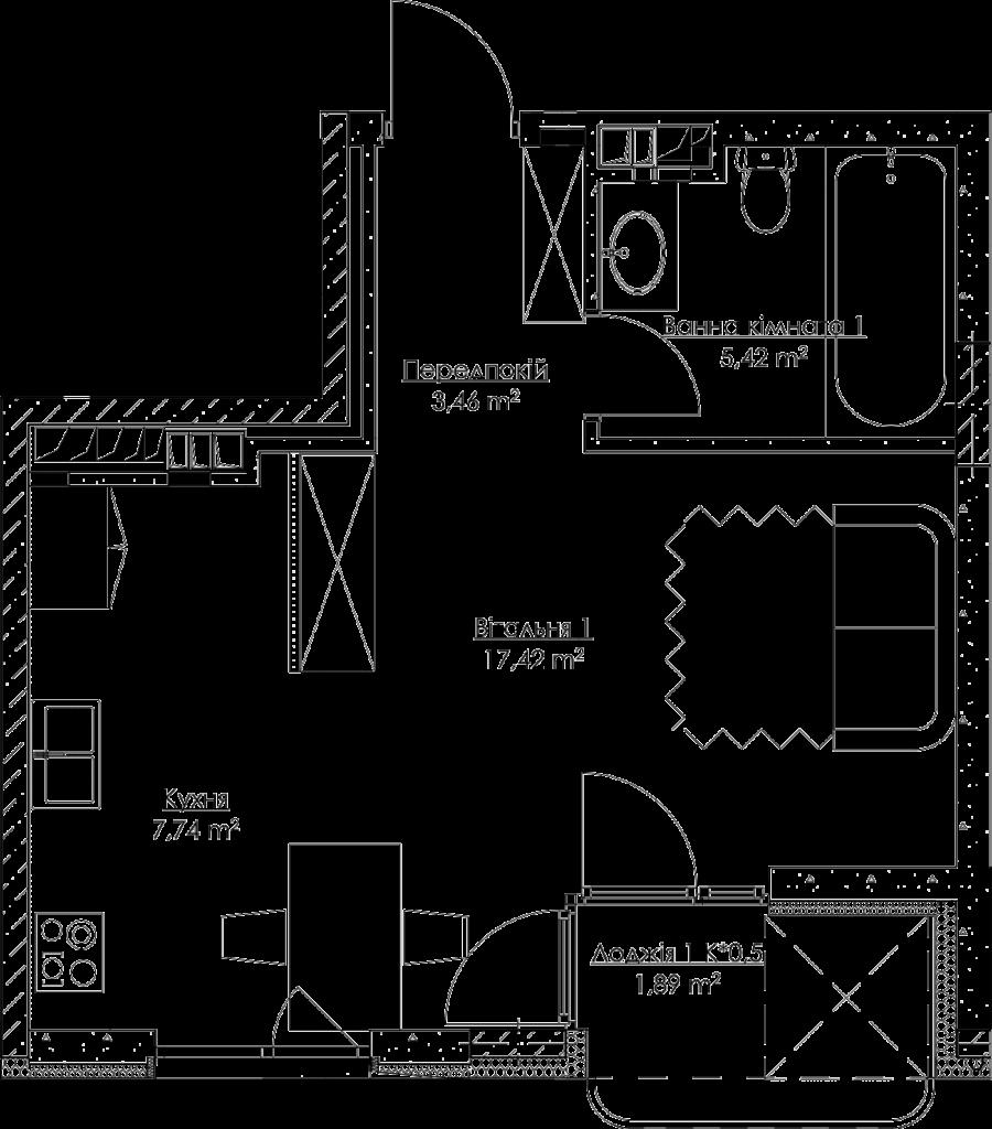 План квартиры k1Ж