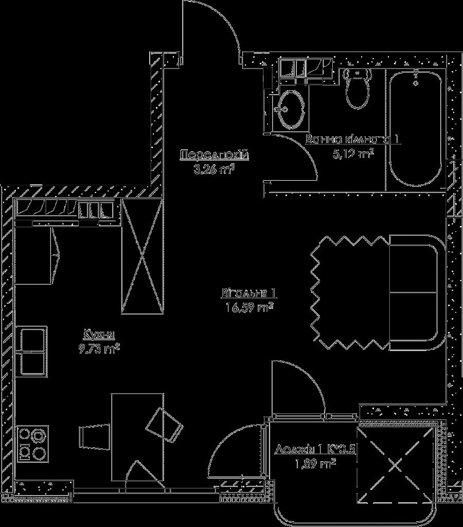 План квартиры k3