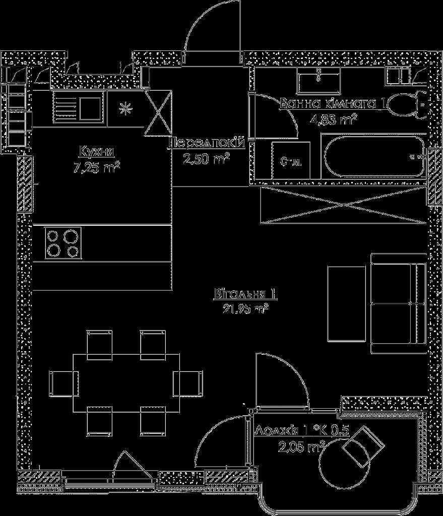 План квартиры KV_4_1K3_1_1_4