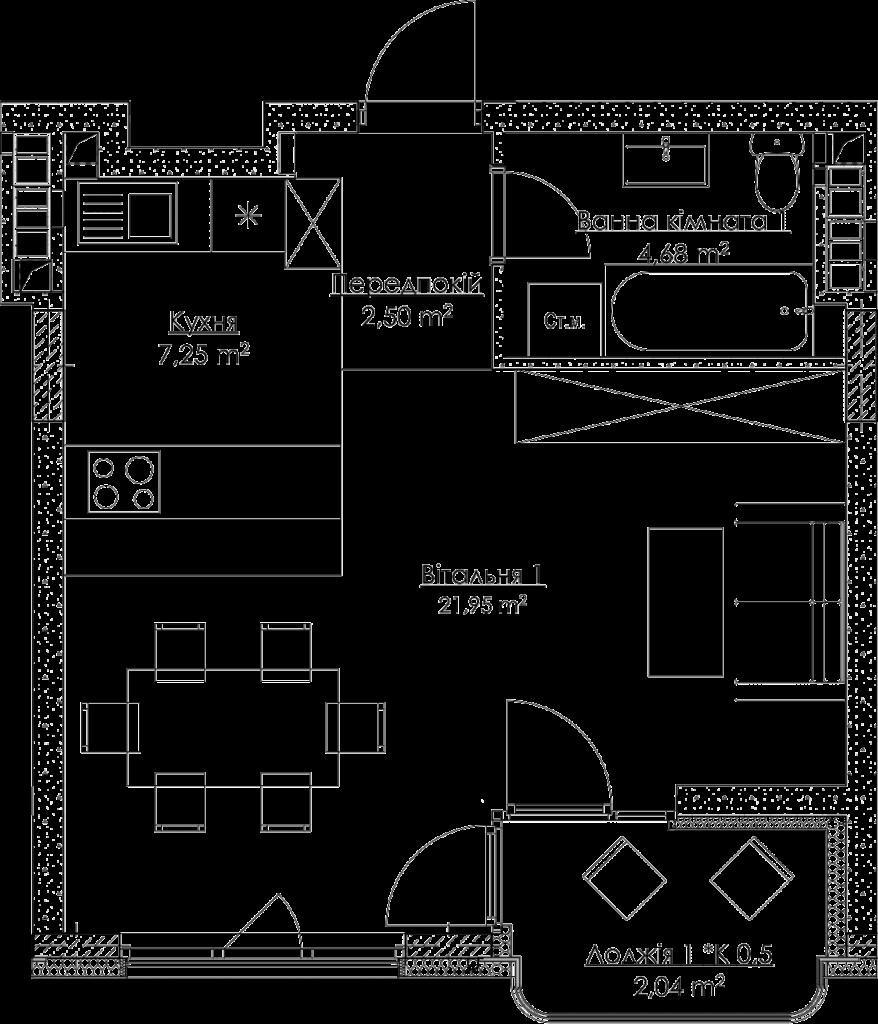 План квартиры KV_5_1K4_1_1_5