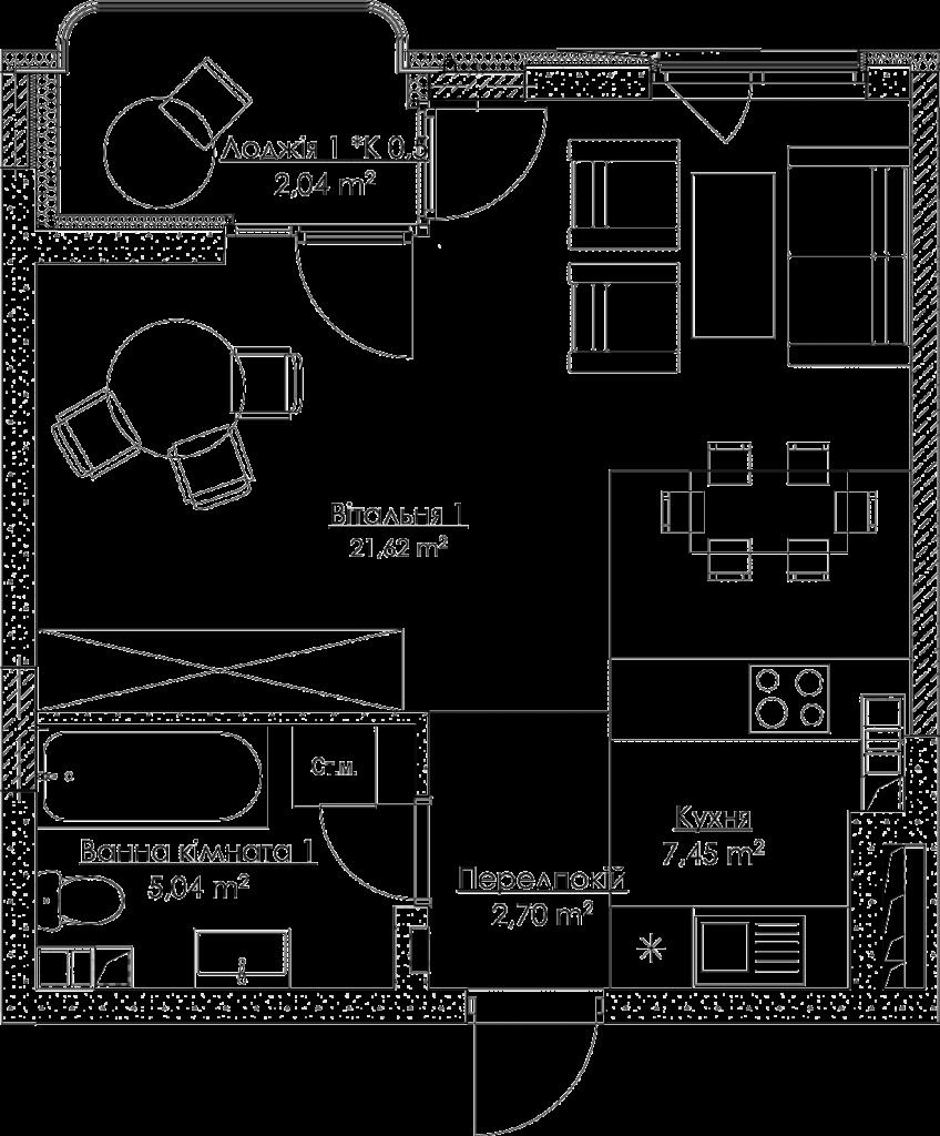 План квартири KV_8_1K6_1_1_8