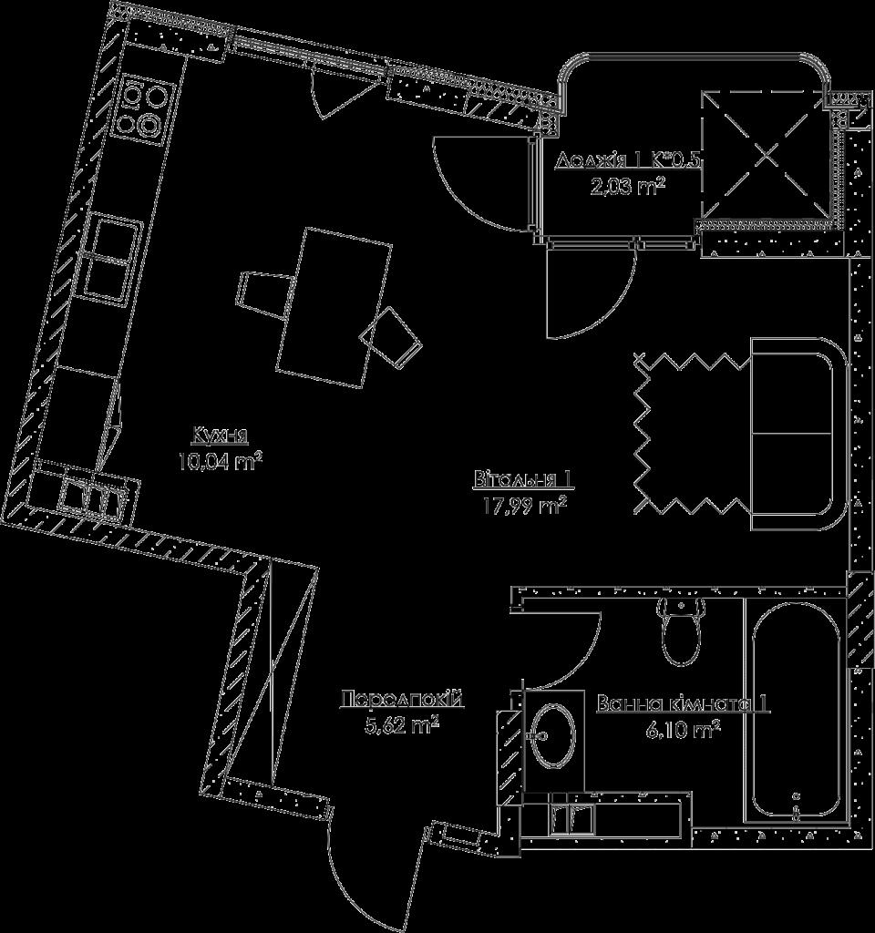План квартири KV_1_1a_1_1_1-1