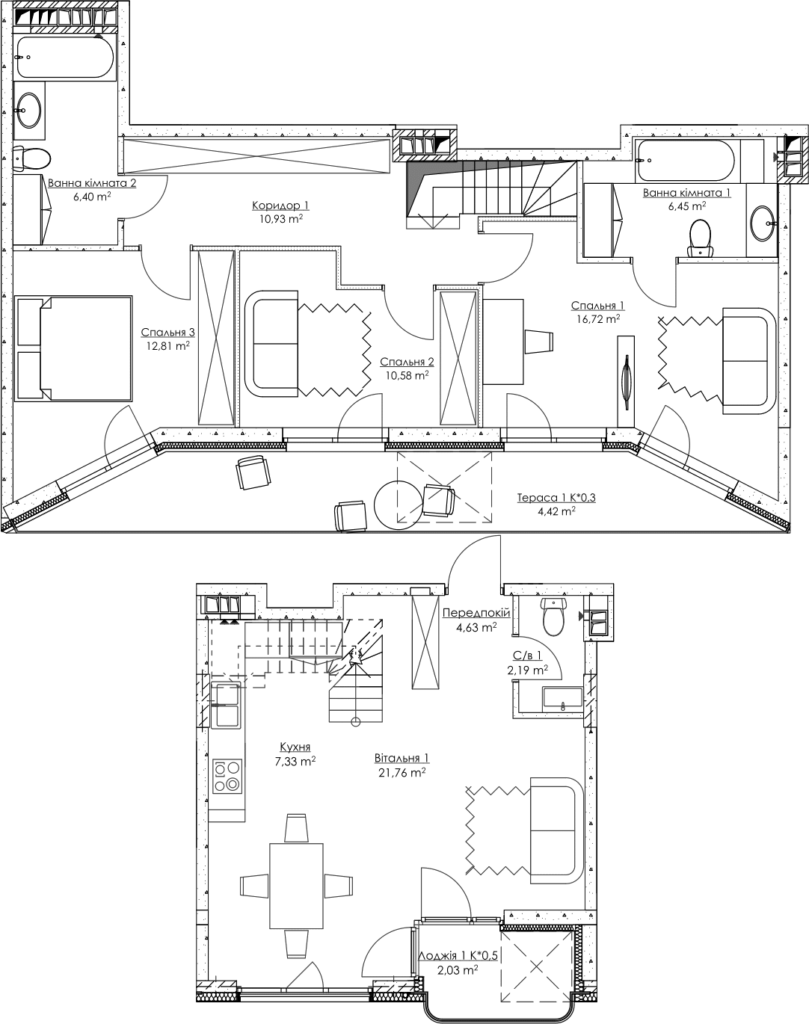 Plan of the apartment KV_39_4g_2_2_7-1