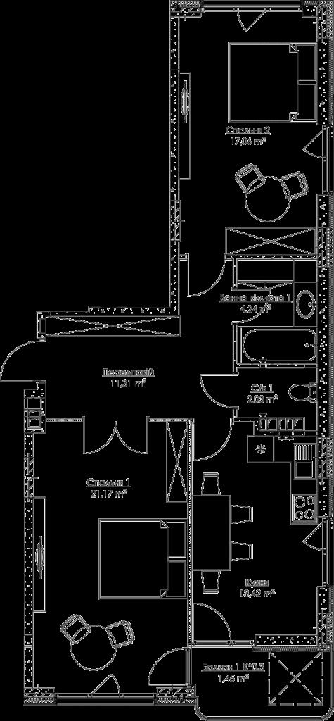 План квартири KV_42_2v_3_3_10-1