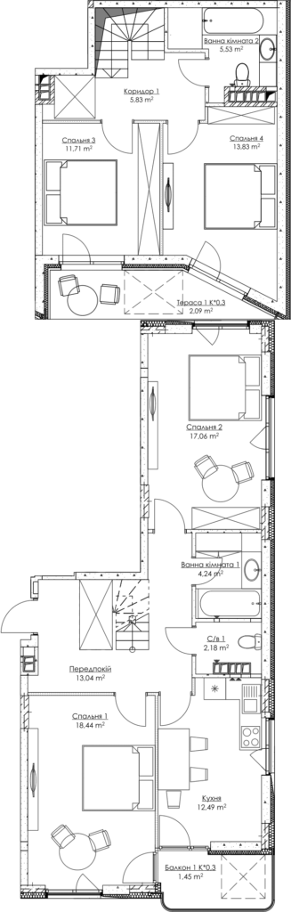 План квартиры KV_58_4d_3_3_10-1