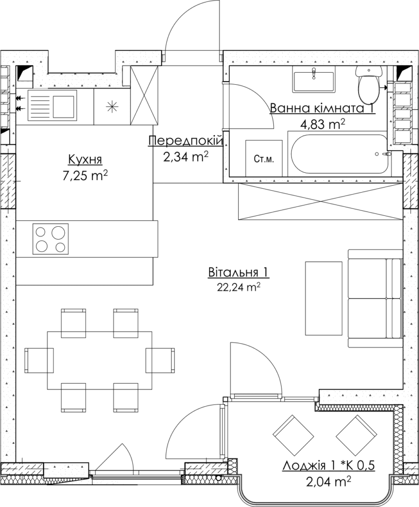 План квартири КВ_13_1Г