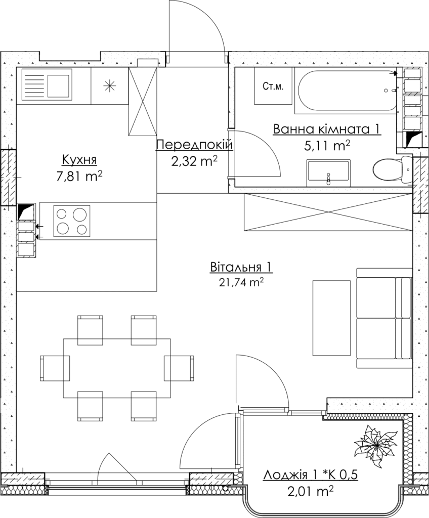 План квартиры КВ_14_1Д