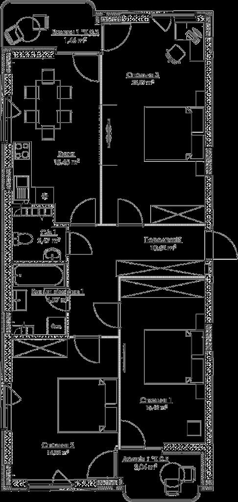 План квартири КВ_15_3A