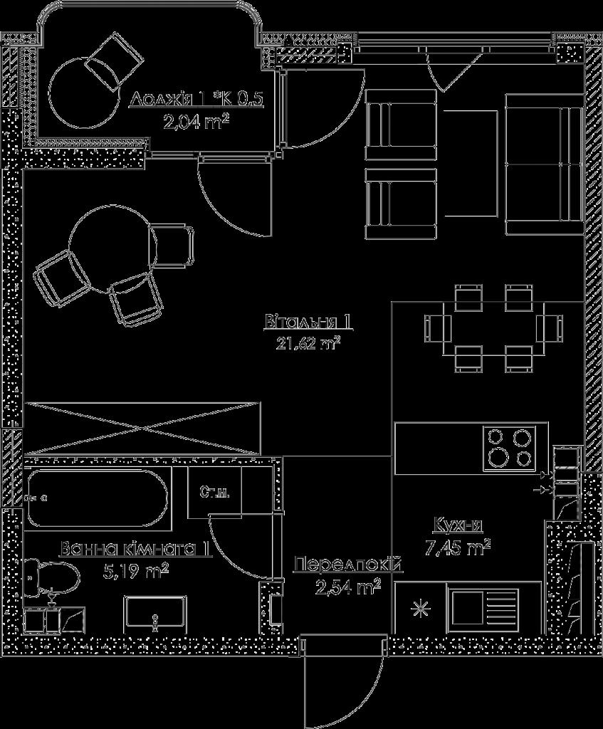 План квартири КВ_16_1E