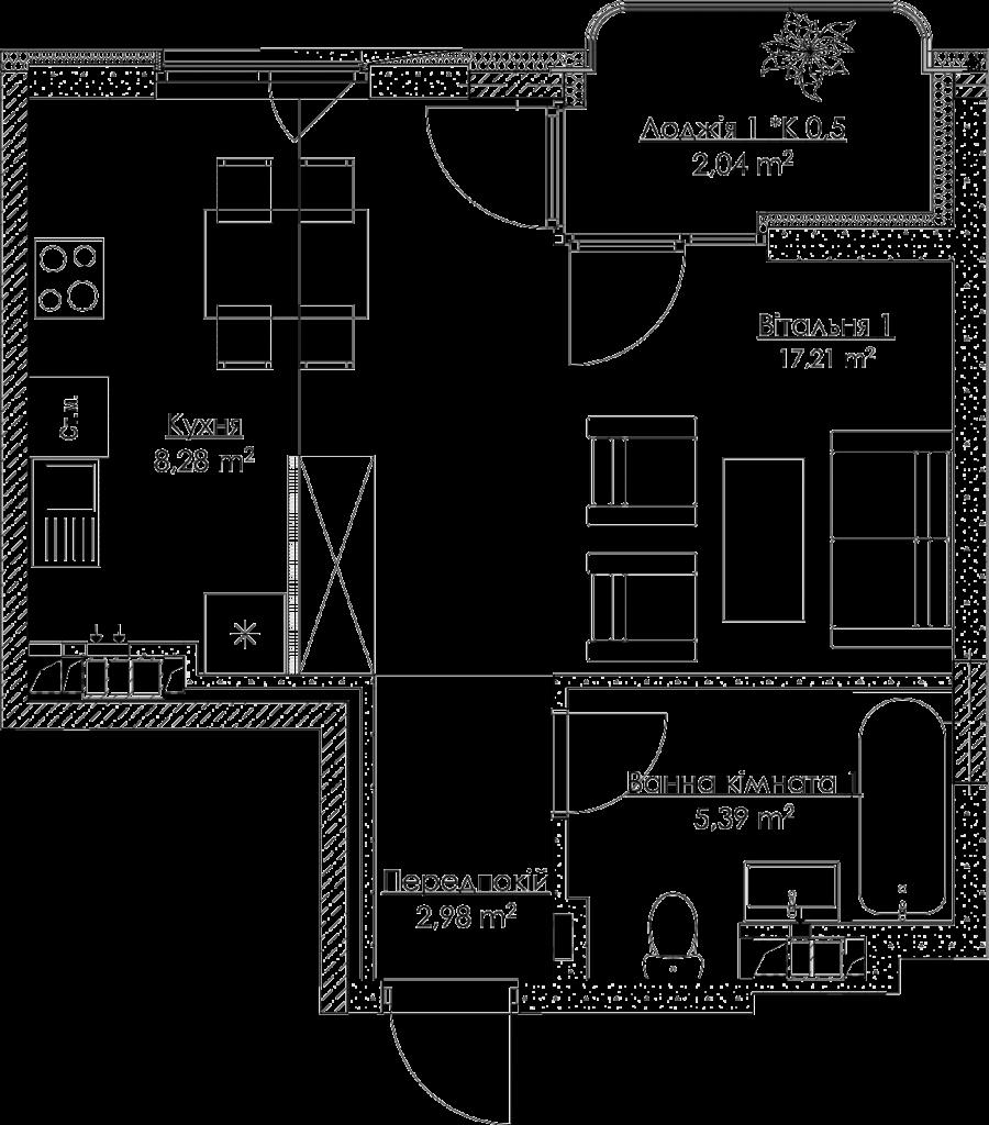 План квартири КВ_25_1A