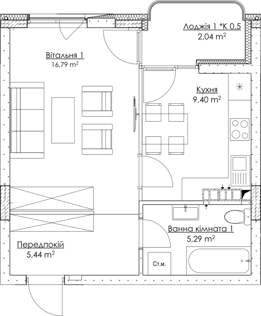 План квартири КВ_26_1Б