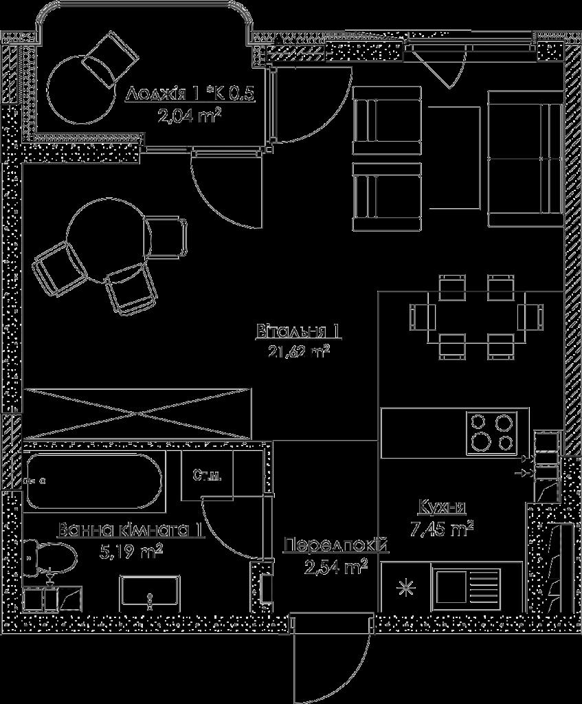План квартири КВ_32_1E