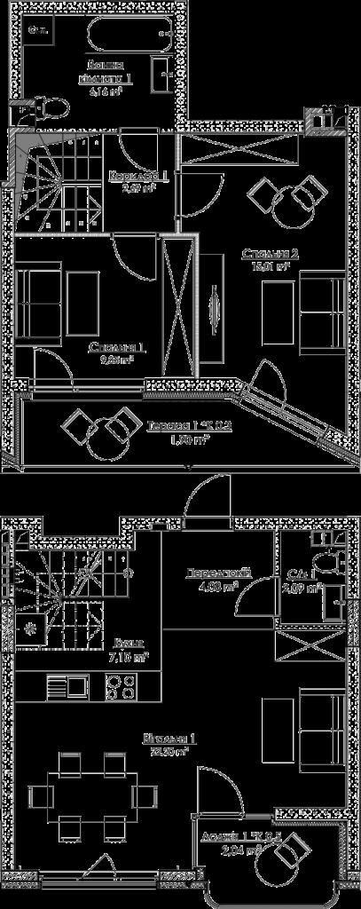 План квартири КВ_36_3B_7