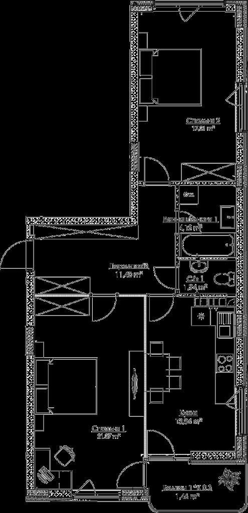 План квартири 2A