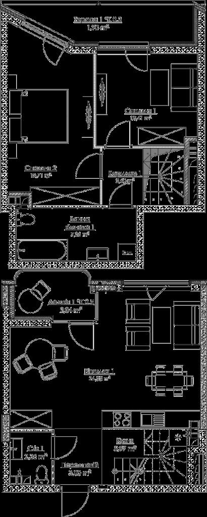 План квартири КВ_40_3Д_7