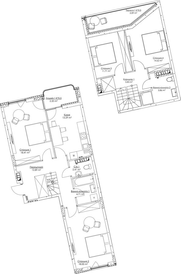 План квартири KV_22_4a_1_1_2-1