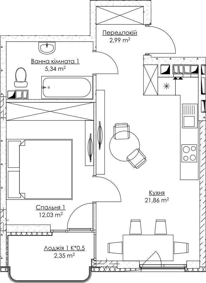 План квартири KV_49_1n_2_3_14-1