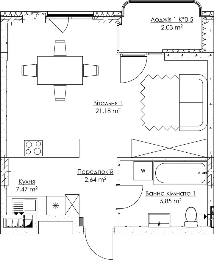 План квартири KV_71_1r_2_4_17-1