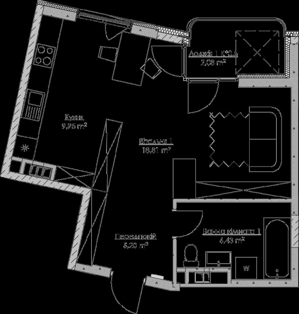 План квартири KV_1_1d_1_1_1-1