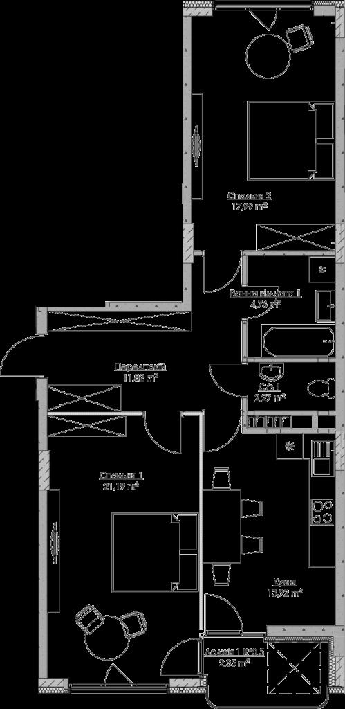 План квартири KV_2_2b_1_1_2-1