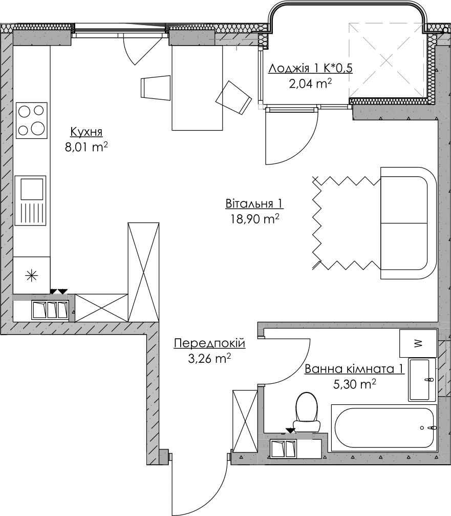 План квартири KV_75_1a_2_4_15-1