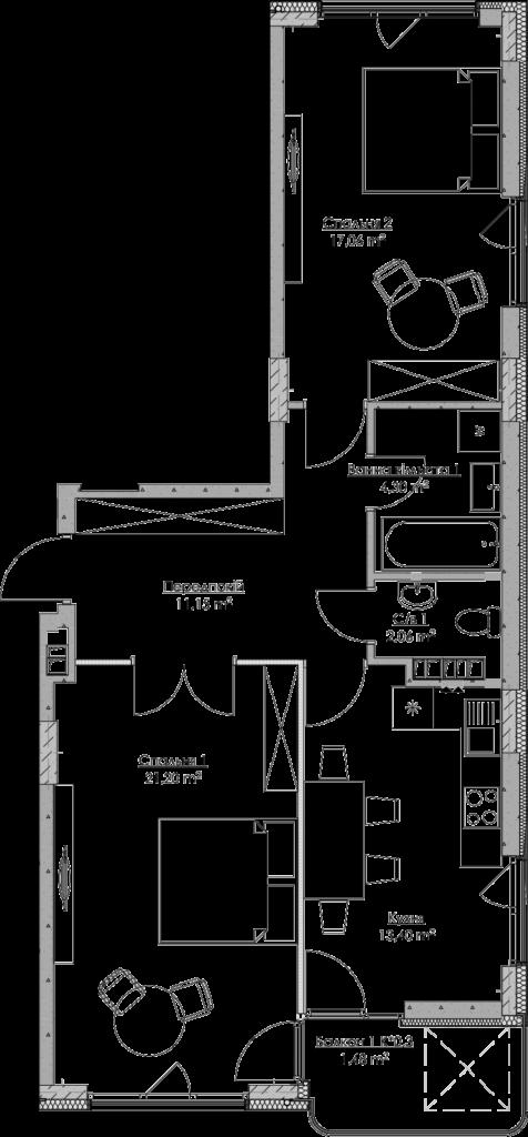 План квартири KV_76_2a_2_4_16-1