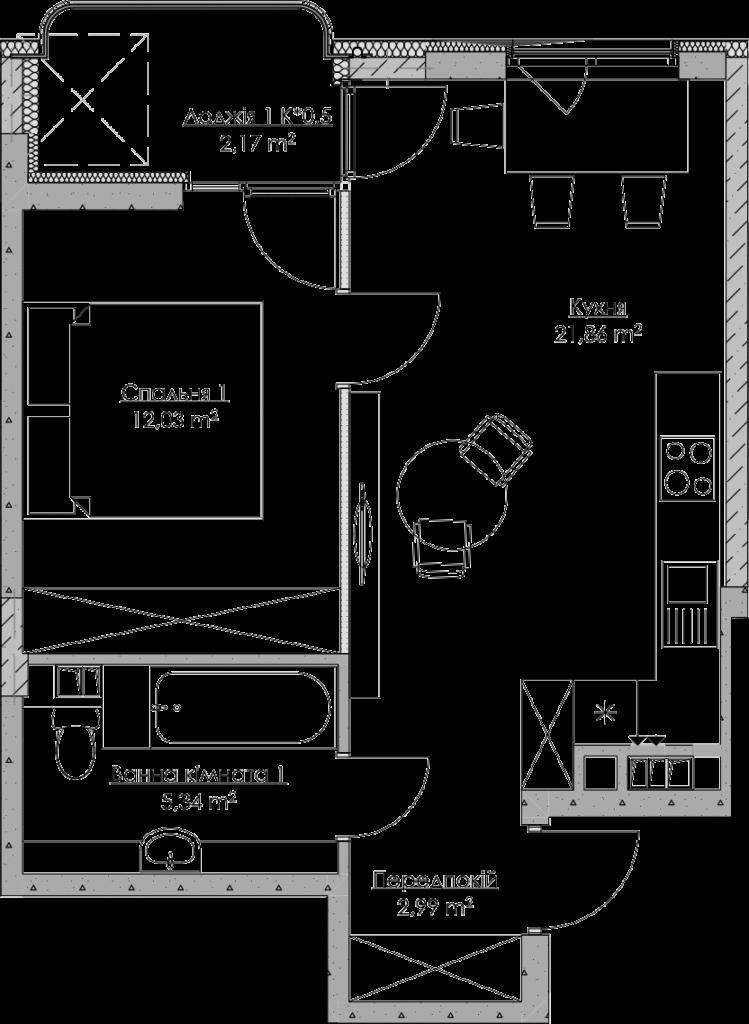 План квартири KV_79_1g_2_4_19-1